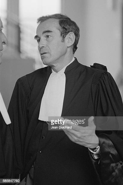 French lawyer Robert Badinter during trial of Morhange talc case