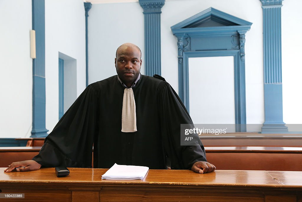 French lawyer Stephane Diboundje poses at the Amiens criminal ...
