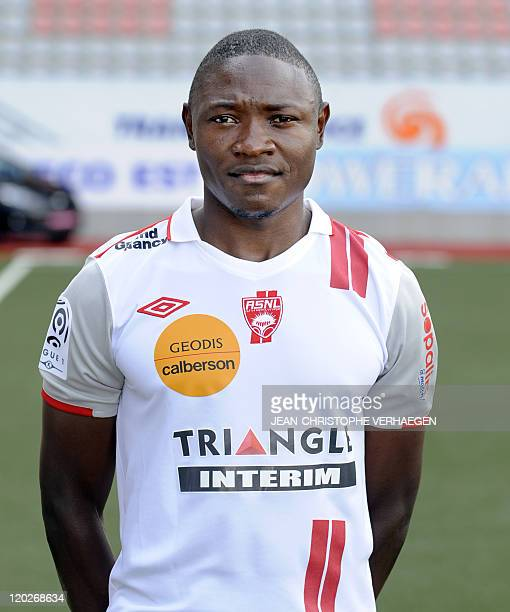 French League 1 football club Nancy's Cameroonian forward Paul Alo'o Efoulou poses during the presentation of the new team for the 20112012 season on...