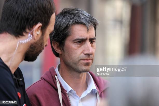 French leftist party quotLa France Insoumisequot MP Francois Ruffin attends a protest dubbed a quotParty for Macronquot against the policies of the...