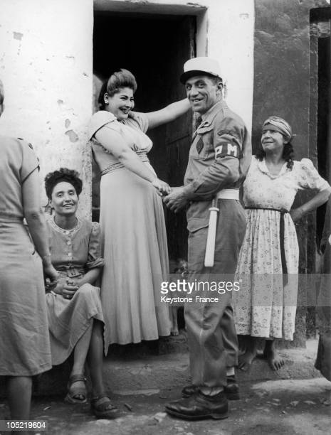 French Legionnaire And Algerian Prostitutes In Sidi Bel Abbes 1957