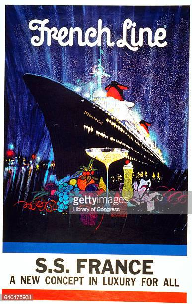 French Line Poster by Robert Peak