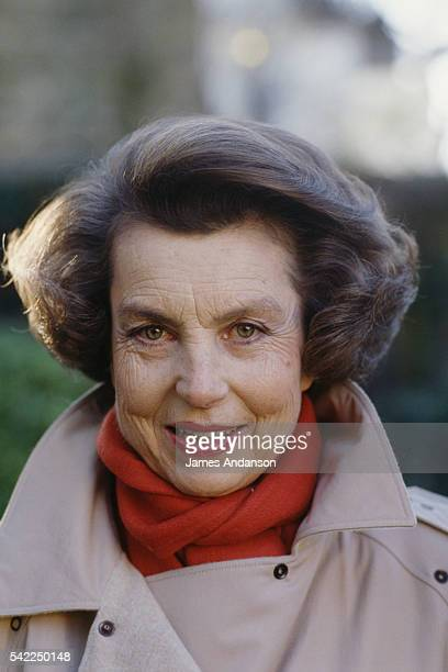 French L'Oreal heiress socialite businesswoman and philanthropist Liliane Bettencourt at home