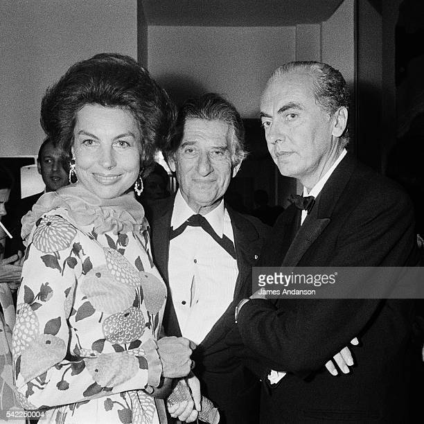 French L'Oreal heiress socialite businesswoman and philanthropist Liliane Bettencourt her husband politician and Academic Andre Bettencourt and...