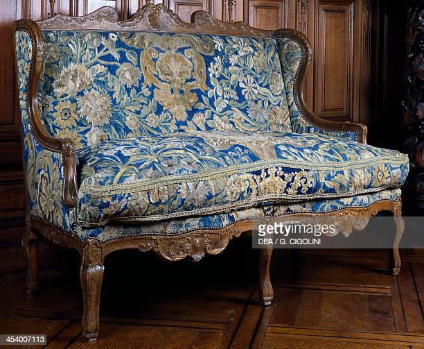 French Louis XV style carved sofa Tapestry Gallery Castle Ooidonk Belgium