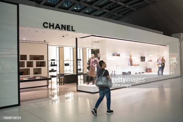 French luxury fashion brand Chanel store seen in Bangkok airport duty free zone
