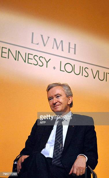 French luxury goods group LVMH CEO Bernard Arnault attends a press conference to announce the LVMH 2007 results, on February 6 in Paris. LVMH...