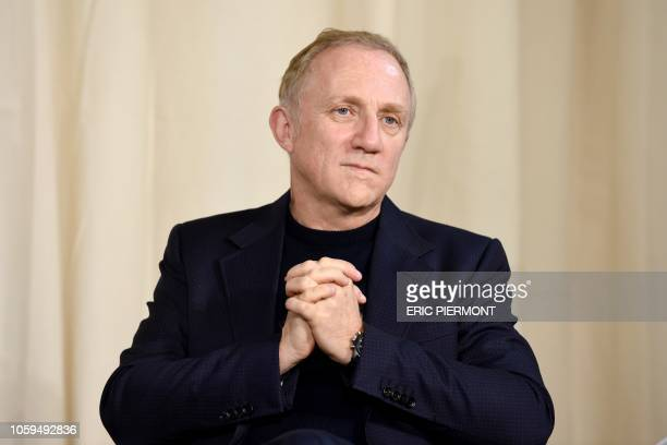 French luxury group Kering CEO FrancoisHenri Pinault attends a conference about violence against women at Kering headquarters in Paris on November 9...