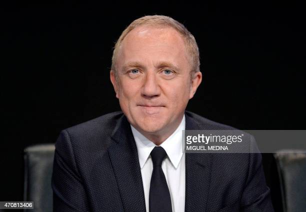 French luxury group Kering CEO FrancoisHenri Pinault looks on prior to the group's general meeting on April 23 2015 in Paris Share prices of French...