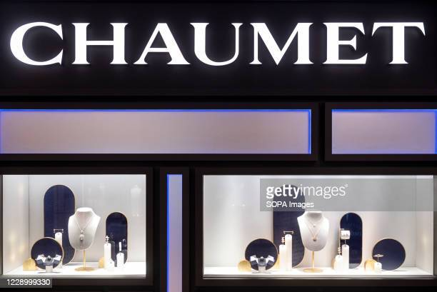 French luxury jewelry and watchmaker brand Chaumet store seen in Hong Kong.