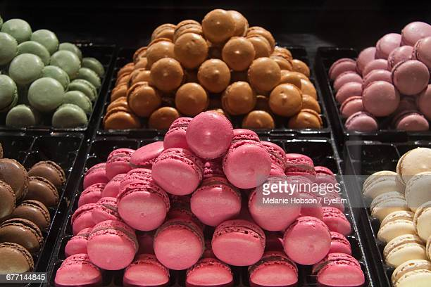 French Macaroon In Bakery