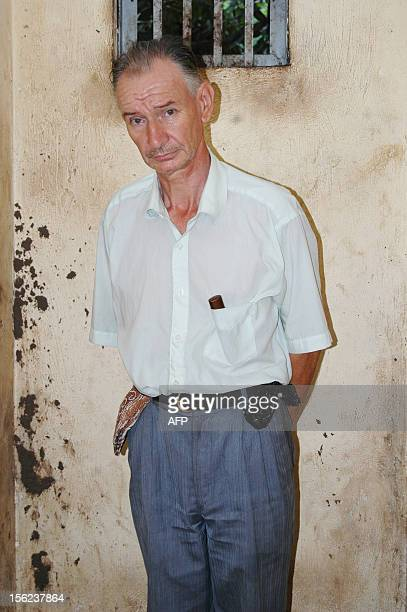 ANJOUAN A french man who calls himself The Baron of Lasbadias poses for a photo while being held by Comoran authorities at a detention center in the...