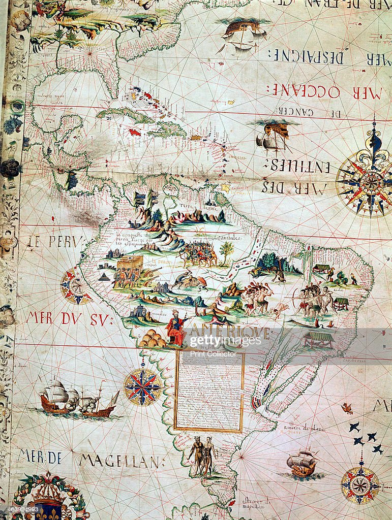 french map of central and south america french 1550 map showing florida