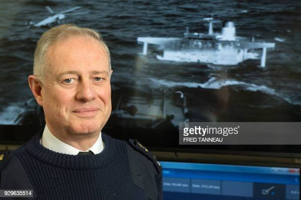 French Maritime Prefect Emmanuel de Oliveira poses on February 23 2018 at the Maritime prefecture in Brest western France On March 16 1978 the...