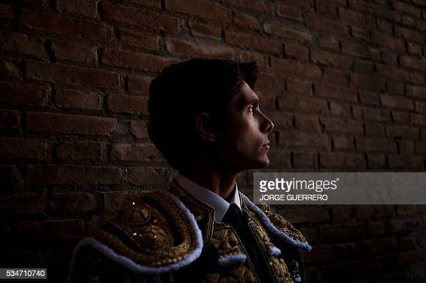 French matador Sebastian Castella stands in preparation prior to a bullfight during the Corpus festival at a Granada bullring on May 27 2016 / AFP /...