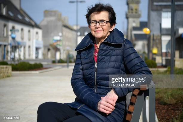 French Mayor Marguerite Lamour poses on February 22 2018 in Ploudalmezeau western France On March 16 1978 the Liberian oil tanker Amoco Cadiz ran...