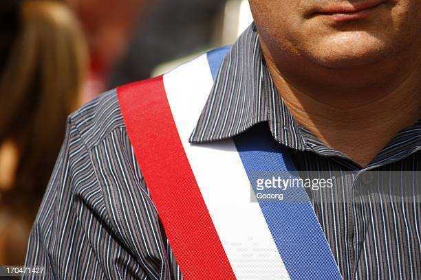 French mayor's scarf France