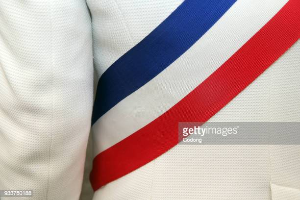 French mayor's scarf France