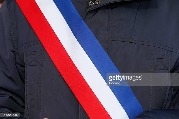 French mayor's scarf
