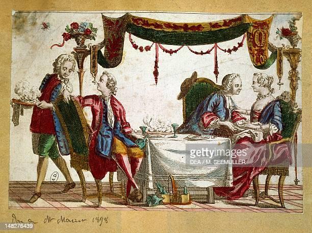 French meal 18th century Paris Bibliothèque Des Arts Decoratifs