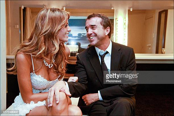 French media tycoon Arnaud Lagardere and Belgian model Jade Foret celebrate her 21st birthday at Carre nightclub on Septemaber 24 2011 in Willebroek...