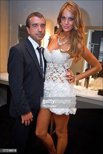 French media tycoon Arnaud Lagardere and Belgian model Jade Foret celebrate her 21st birthday at Carre nightclub on Septemaber 24, 2011 in...