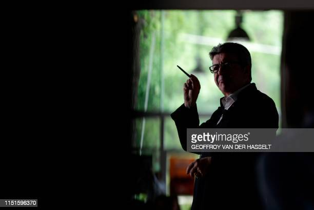French member of Parliament and president of the leftist La France Insoumise party Jean-Luc Melenchon gestures as he speaks during a representative...