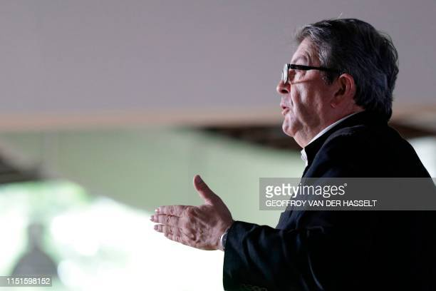 French member of Parliament and president of the leftist La France Insoumise party JeanLuc Melenchon speaks during a representative assembly of La...