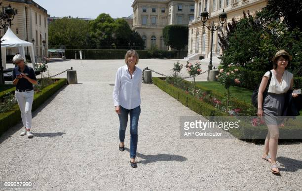 French member of Parliament of MoDem centrist party Marielle de Sarnez arrives at the French National Assembly in Paris on June 22 2017 one day after...