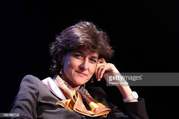 French Member of the European Parliament Sylvie Goulard presents her book 'On Democracy in Europe' written in collaboration with Mario Monti at...