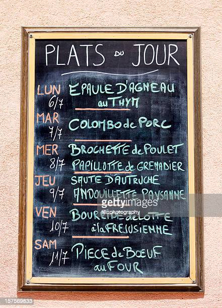 French Menu in Provence
