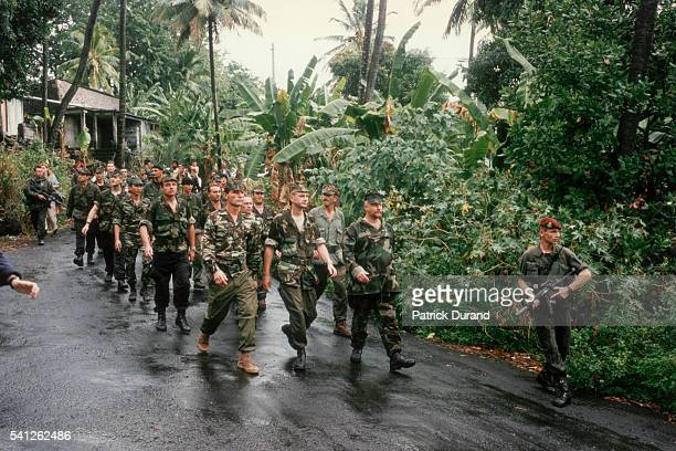 French mercenary Bob Denard during a 'coup d'etat' of the Comoros Islands in Eastern Africa
