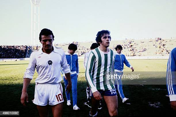 French midfielder Michel Platini is seen during the 1978 World Cup football match between France and Hungary on June 10 in Mar del Plata AFP PHOTO