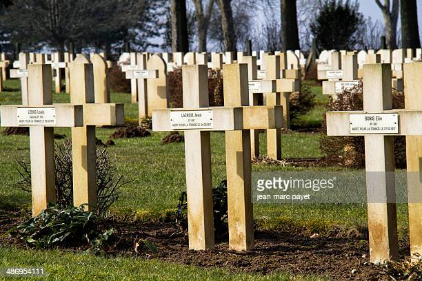 French military cimetery in Malmaison in France The chemin des dames is located between Soissons Laon and Reimsit is in this place took in april 1917...