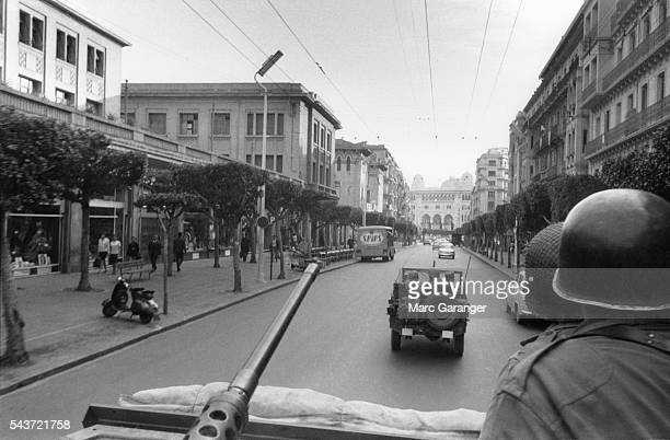 French Military Convoy in Algiers