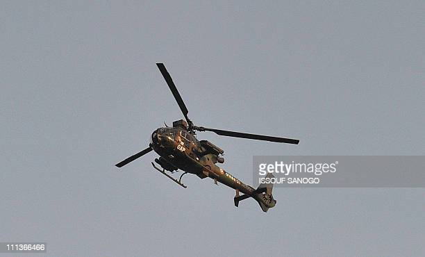 French military mission in Ivory Coast helicopter flies over Abidjan on April 1 2011 Ivory Coast strongman Laurent Gbagbo's forces repulsed an...