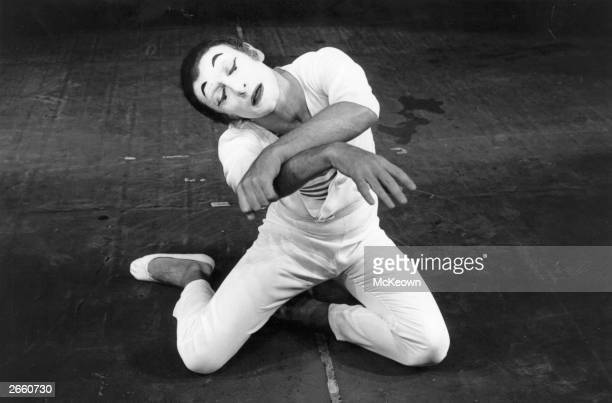 French mime artist Marcel Marceau performing.