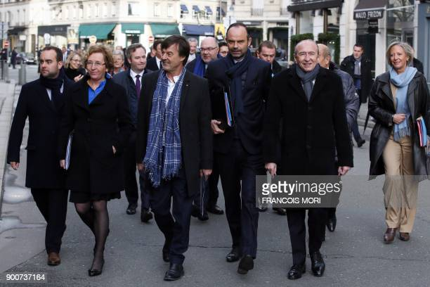 French Minister attached to the Minister of Ecological and Inclusive Transition Sebastien Lecornu French Labour Minister Muriel Penicaud French...