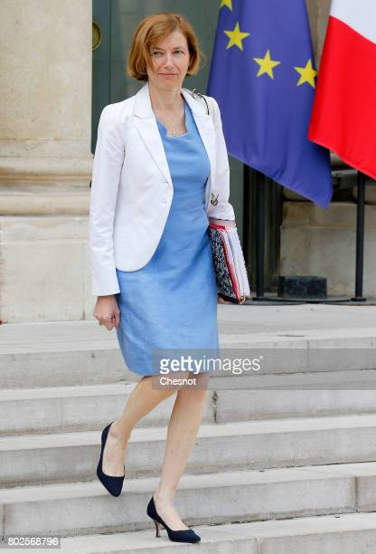 French Minister defence minister Florence Parly leaves the Elysee Presidential Palace after a weekly cabinet meeting on june 28 2017 in Paris France...