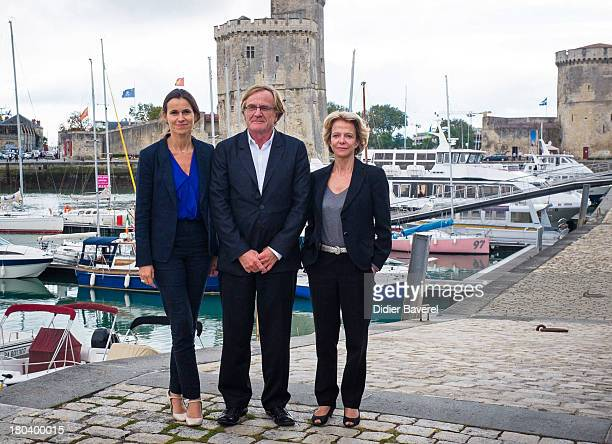 French Minister for Culture and Communication Aurelie Filippetti meets Chairman of 15th Festival of The TV Fiction Quentin Raspail and new chairman...