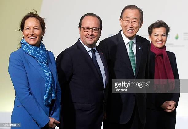 French Minister for Ecology, Sustainable Development and Energy Segolene Royale , French president Francois Hollande, United Nations Secretary...