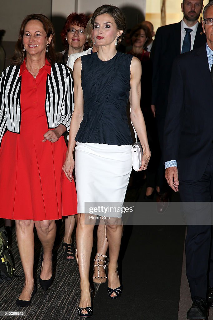 Queen Letizia of Spain Attends The Second Global Conference on Health and Climate In Paris : News Photo