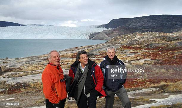 French Minister for Ecology Sustainable development and Planning JeanLouis Borloo is pictured 10 September 2007 in Quervain bay with amateur...