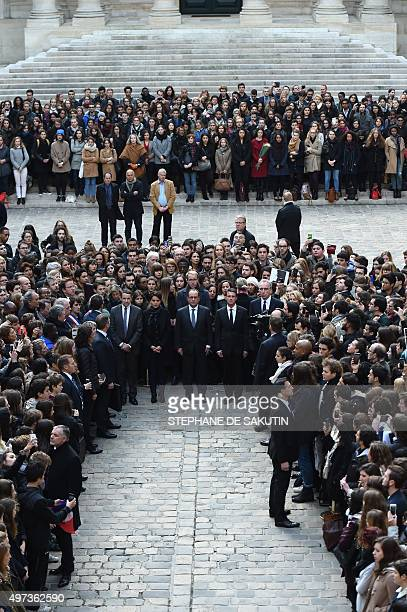 French Minister for Higher Education and Research Thierry Mandon, French Education Minister Najat Vallaud-Belkacem, French President Francois...