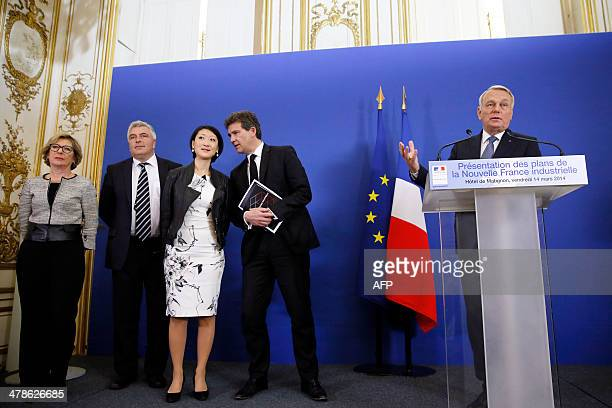 French minister for Higher Education Genevieve Fioraso French Junior Minister for Transports and Maritime Economy Frederic Cuvillier French junior...