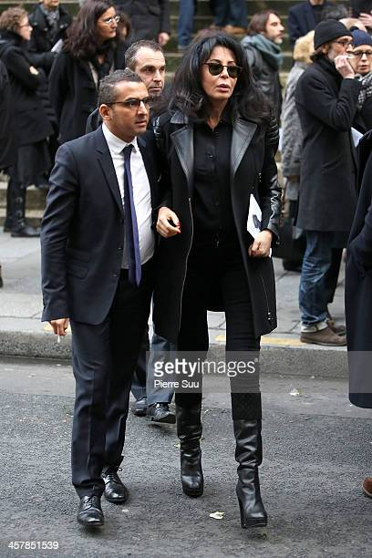 French Minister for La Francophonie Yamina Benguigui attends a tribute to Kate Barry at Eglise Saint Roch on December 19 2013 in Paris France...