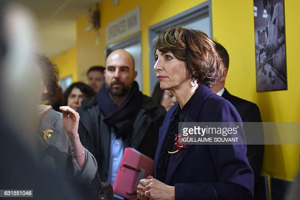 French Minister for Social Affairs and Health Marisol Touraine looks on as she visits the emergency department of the hospital Trousseau in Tours on...