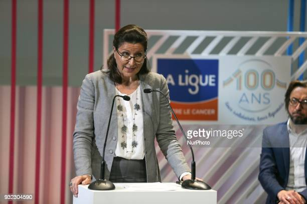 French Minister for Solidarity and Health Agnes Buzyn takes part in the gala celebrating the 100th anniversary of the creation of the League in the...