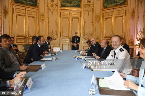 French Minister for the Ecological and Inclusive Transition Nicolas Hulot French Prime Minister Edouard Philippe French Interior Minister Gerard...
