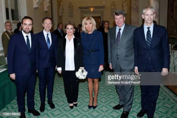 French Minister in charge of Territorial Communities Sebastien Lecornu Founder Stephane Bern Grand Duchess Maria Theresa of Luxembourg Brigitte...